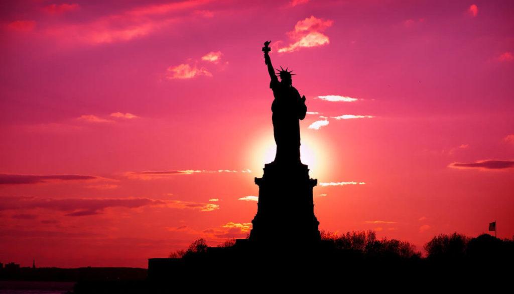 Statue of Liberty Sunset